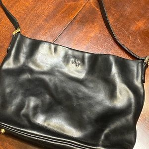 Mosaic black leather purse